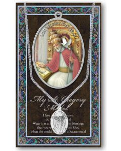 Pewter St. Gregory the Great Medal