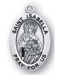 St. Isabella SS medal oval