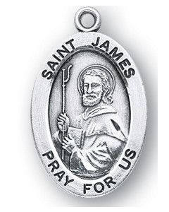St. James the Great SS medal oval