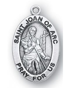 St. Joan of Arc SS medal oval