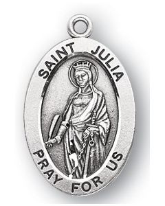 St. Julia SS medal oval