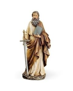 """St Paul with Book 10.5"""" Statue"""
