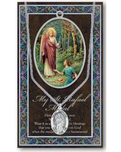 Pewter St. Raphael Medal