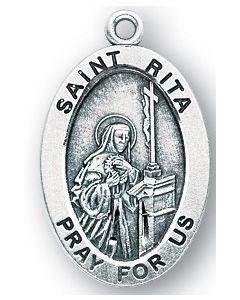 St. Rita SS medal oval