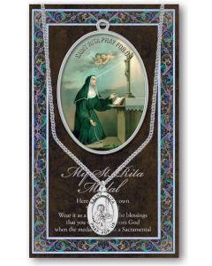 Pewter St. Rita Medal