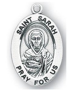 St. Sarah SS medal oval