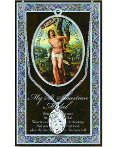Pewter St. Sebastian Medal