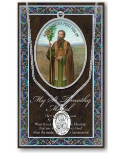 Pewter St. Timothy Medal