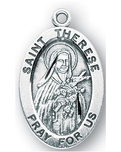 St. Therese of Lisieux SS medal oval