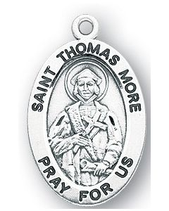 St. Thomas More SS medal oval