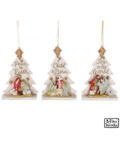 Nativity Tree Ornament