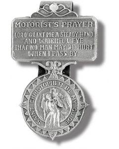 St. Christopher Motorist Prayer Visor Clip