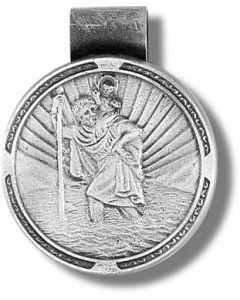 St. Christopher round Visor Clip