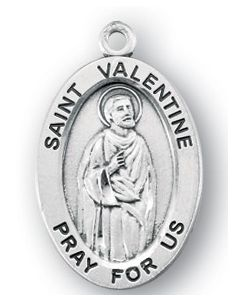 St. Valentine SS medal oval