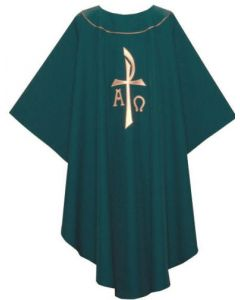 Chasuble Hunter with Stylized Chi-Rho